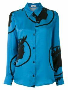 Amir Slama silk Índio shirt - Blue