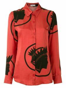 Amir Slama silk Índio shirt - Red