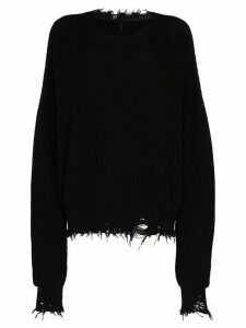 UNRAVEL PROJECT distressed oversized knit jumper - Black