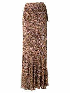 Amir Slama Marajoara wrap skirt - NEUTRALS