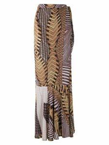 Amir Slama Caminhos wrap skirt - Brown