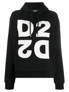 Dsquared2 logo print hoodie - Black