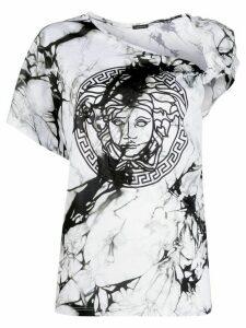 Versace Medusa marble-effect T-shirt - White