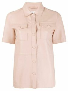 STAND STUDIO buttoned short-sleeved shirt - PINK