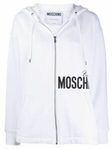 Moschino logo print hoodie - White