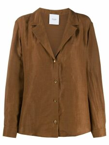 Agnona straight shirt jacket - Brown
