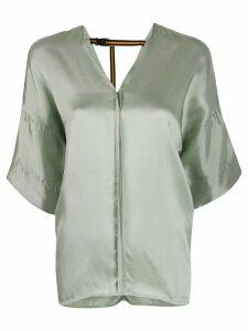 A.F.Vandevorst short-sleeve flared blouse - Green