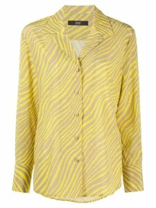 Steffen Schraut zebra-print long-sleeved shirt - Yellow