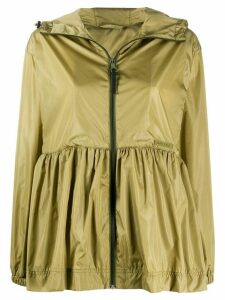 Duvetica tiered style hooded jacket - Green
