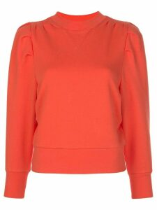 FRAME structured crew neck sweatshirt - ORANGE