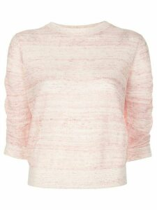 Veronica Beard intarsia knit crew neck jumper - PINK