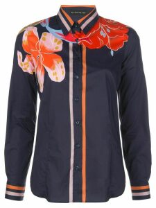 Etro floral-print slim-fit shirt - Blue