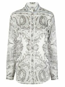 Etro long-sleeved paisley-print shirt - White
