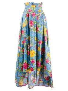 Ultràchic floral print maxi skirt - Blue
