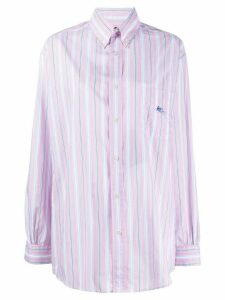 Etro cotton striped shirt - PINK
