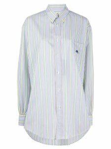 Etro striped button-up shirt - White
