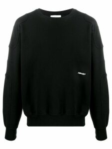 AMBUSH panelled embroidered-logo sweatshirt - Black