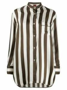 F.R.S For Restless Sleepers striped print shirt - White