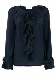 P.A.R.O.S.H. crew neck ruffled blouse - Blue