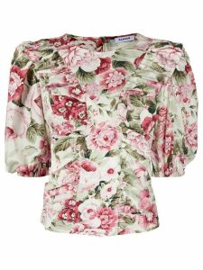 P.A.R.O.S.H. floral-print ruffled blouse - PINK