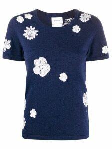 Barrie short sleeve floral print T-shirt - Blue