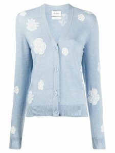 Barrie flower pattern cardigan - Blue