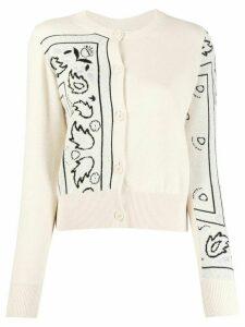 Barrie bandana pattern cardigan - NEUTRALS