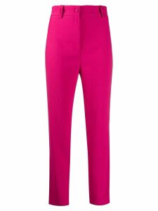 Hebe Studio plain high waisted trousers - PINK