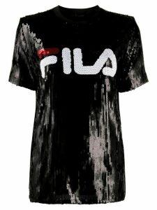 Fila sequinned logo T-shirt - Black