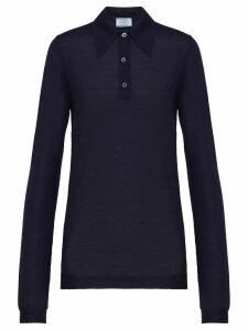 Prada cashmere knitted polo shirt - Blue