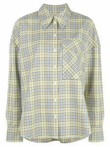 Tibi checked chest pocket shirt - Green