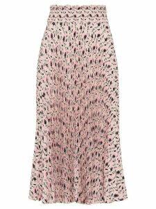 Prada printed sablé midi skirt - PINK