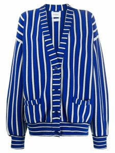 Barrie striped oversized cardigan - Blue