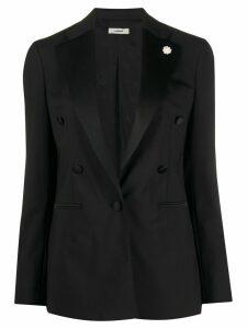 Lardini flower detail blazer - Black
