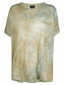 Avant Toi tie-dye print T-shirt - Brown