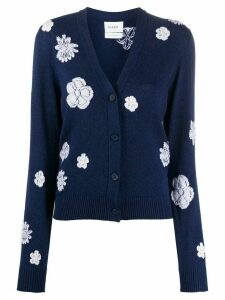 Barrie floral knit cardigan - Blue