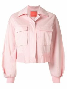 Manning Cartell cropped buttoned shirt jacket - PINK