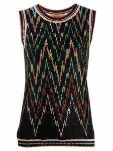 Missoni embroidered sleeveless jumper - Black