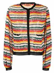 Missoni striped-pattern cardigan - Red