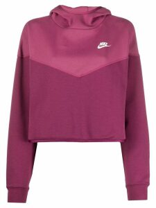 Nike Tech Fleece cropped hoodie - PINK