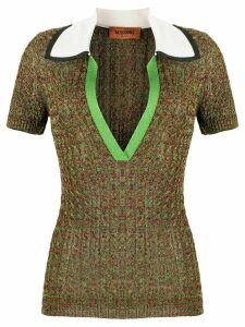 Missoni knitted short sleeved polo shirt - Green