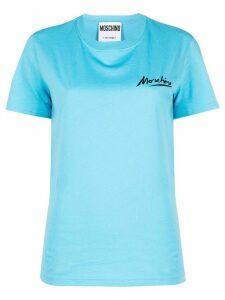 Moschino logo print T-shirt - Blue