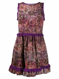 Missoni abstract flared midi dress - PURPLE