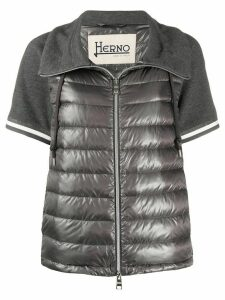 Herno short-sleeved quilted-down jacket - Grey