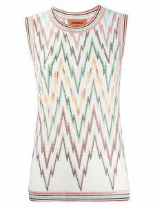 Missoni embroidered sleeveless jumper - White