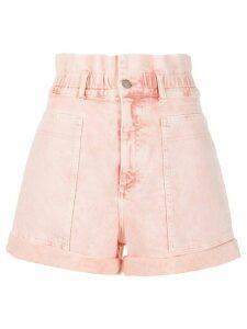 Stella McCartney distressed high-rise denim shorts - PINK