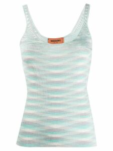 Missoni geometric embroidered tank top - Blue