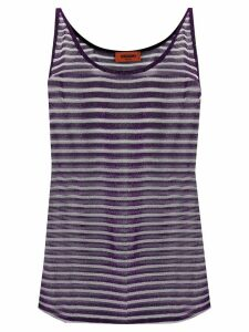 Missoni striped tank top - PURPLE