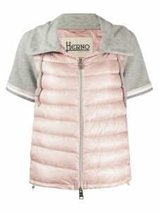 Herno short-sleeved quilted-down jacket - PINK