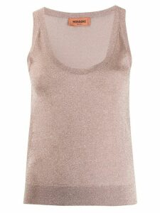 Missoni sparkle-effect tank top - PINK